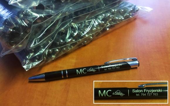 długopisy metalowe Cosmo  z grawerem dla mcstudio