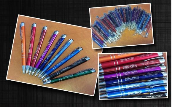 długopisy metalowe z grawerem dla phu piłka