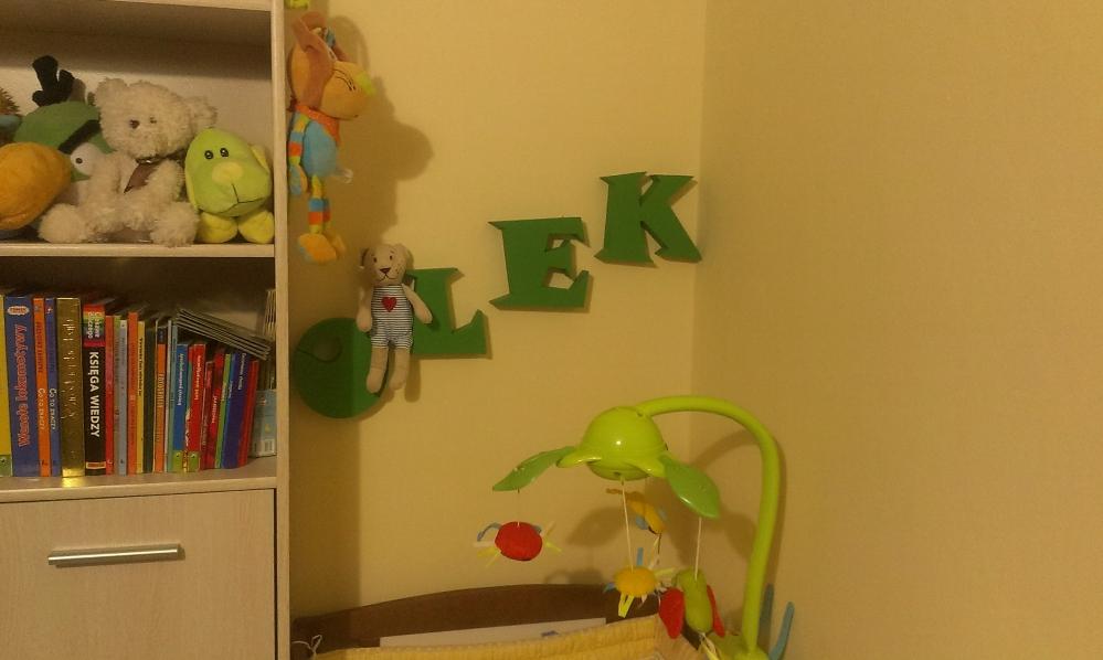 Litery ze styroduru w pokoju dziecięcym ( Zdjęcie nadesłane przez naszą klientkę)