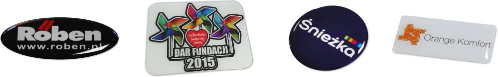naklejki 3d z logo