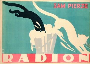 (przykładowy plakat z PRLu. Autor Tadeusz Gronowski)