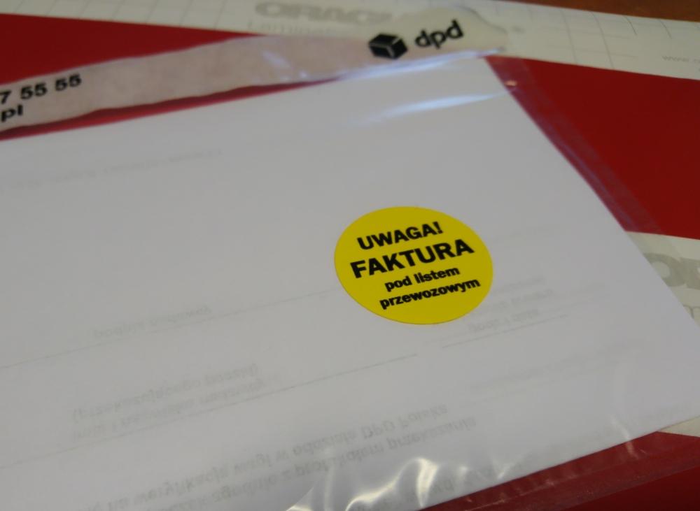 naklejka żółta_uwaga faktura